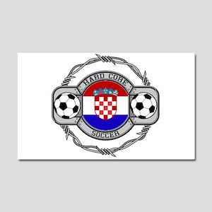 Croatia Soccer Car Magnet 20 x 12