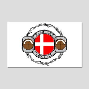 Denmark Football Car Magnet 20 x 12