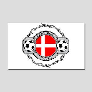 Denmark Soccer Car Magnet 20 x 12