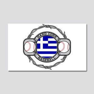 Greece Baseball Car Magnet 20 x 12