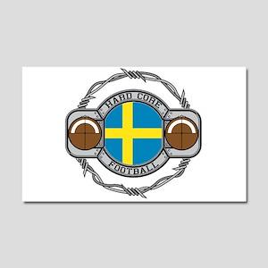 Sweden Football Car Magnet 20 x 12