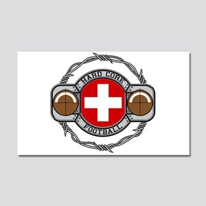 Switzerland Football Car Magnet 20 x 12