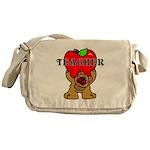 Teachers Apple Bear Messenger Bag