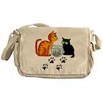 Fish Bowl Kitty Messenger Bag