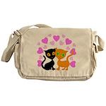 Kitty Cat Love Messenger Bag