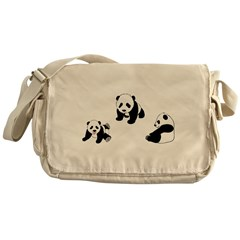 Pandas At Play Messenger Bag