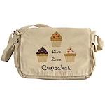 Live Love Cupcakes Messenger Bag