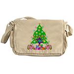 Hanukkah and Christmas Family Messenger Bag
