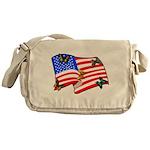 American Flag Butterflies Messenger Bag