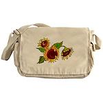 Sunflower Garden Messenger Bag