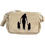 Mother and Children Messenger Bag