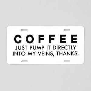 'Coffee Addict' Aluminum License Plate