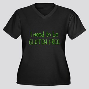 Gluten free Women's Plus Size V-Neck Dark T-Shirt
