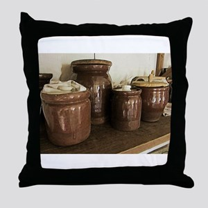 Antique Ceramic Jars Throw Pillow