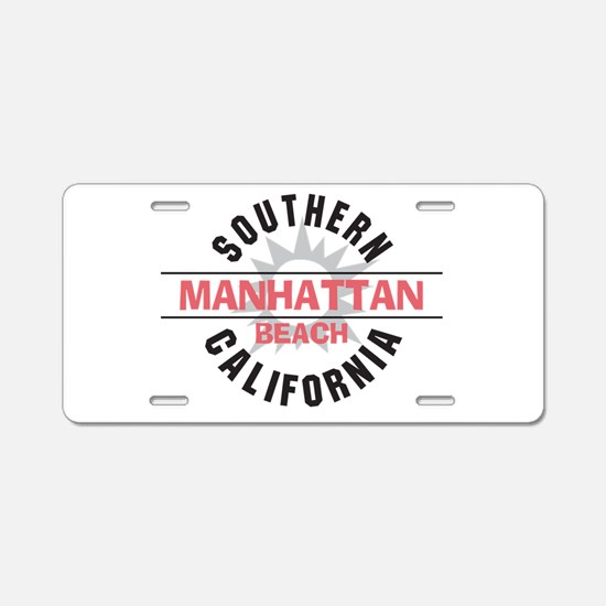 Manhattan Beach CA Aluminum License Plate