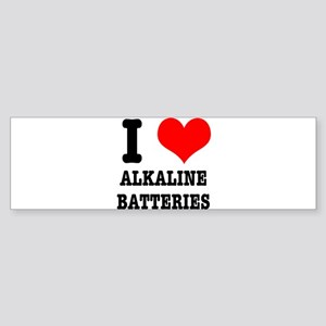 I Heart (Love) Alkaline Batte Sticker (Bumper)