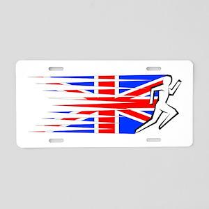 Athletics Runner - UK Aluminum License Plate