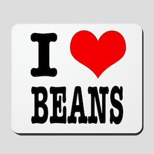 I Heart (Love) Beans Mousepad