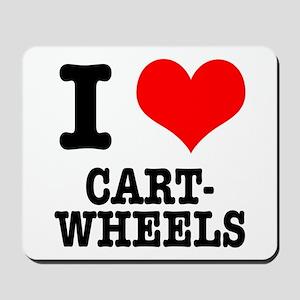 I Heart (Love) Cartwheels Mousepad