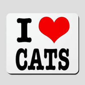 I Heart (Love) Cats Mousepad