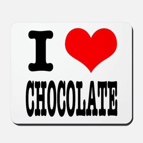 I Heart (Love) Chocolate Mousepad