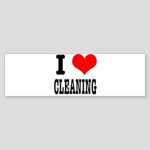 I Heart (Love) Cleaning Sticker (Bumper)
