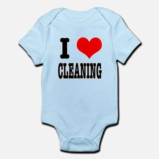 I Heart (Love) Cleaning Infant Bodysuit