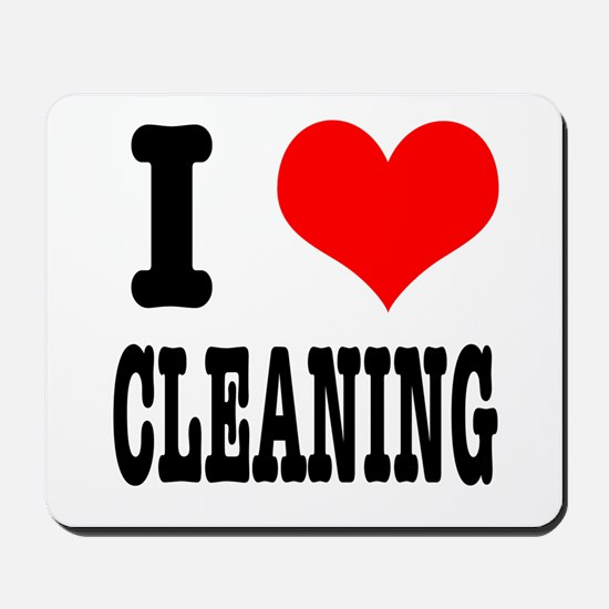 I Heart (Love) Cleaning Mousepad