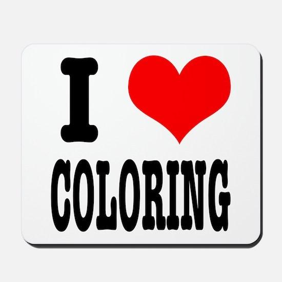 I Heart (Love) Coloring Mousepad