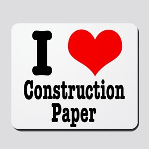 I Heart (Love) Construction P Mousepad