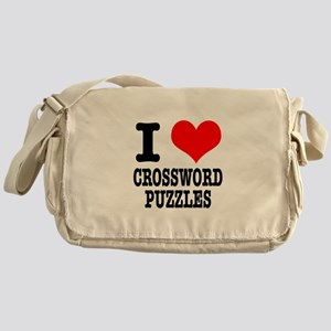 I Heart (Love) Crossword Puzz Messenger Bag