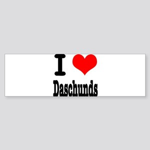 I Heart (Love) Daschunds Sticker (Bumper)