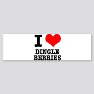 I Heart (Love) Dingleberries Sticker (Bumper)