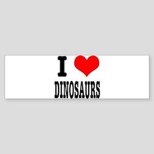 I Heart (Love) Dinosaurs Sticker (Bumper)