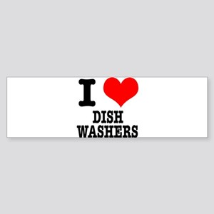 I Heart (Love) Dish Washers Sticker (Bumper)