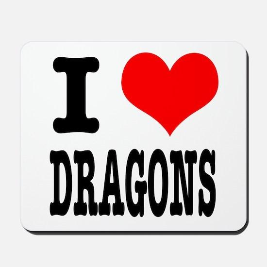 I Heart (Love) Dragons Mousepad