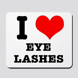 I Heart (Love) Eyelashes Mousepad