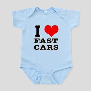 I Heart (Love) Fast Cars Infant Bodysuit