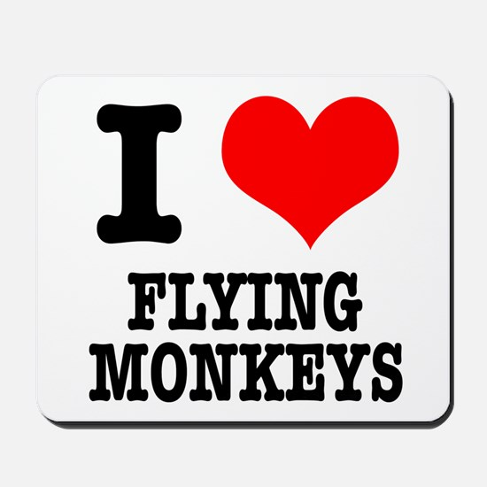 I Heart (Love) Flying Monkeys Mousepad