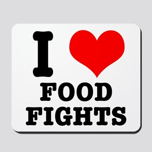 I Heart (Love) Food Fights Mousepad