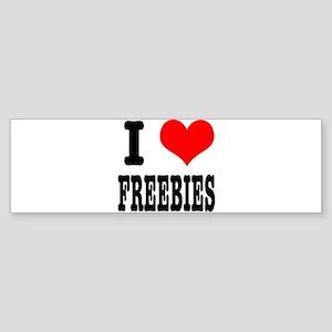 I Heart (Love) Freebies Sticker (Bumper)