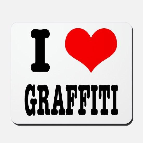 I Heart (Love) Graffiti Mousepad