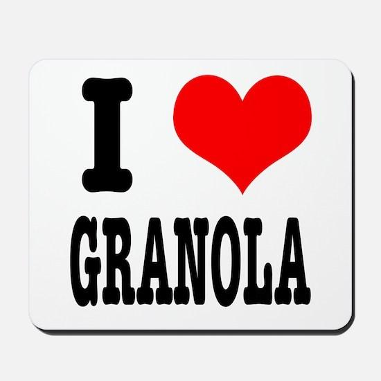 I Heart (Love) Granola Mousepad