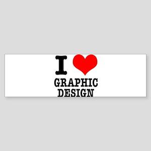I Heart (Love) Graphic Design Sticker (Bumper)