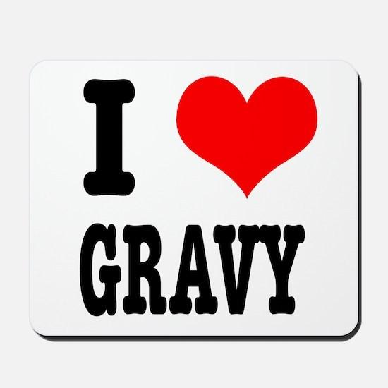 I Heart (Love) Gravy Mousepad