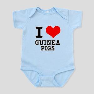 I Heart (Love) Guinea Pigs Infant Bodysuit