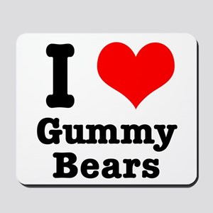 I Heart (Love) Gummy Bears Mousepad