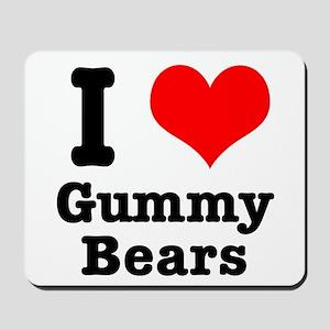 I Heart (Love) Gummy Bears Mousepad