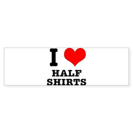 I Heart (Love) Half Shirts Sticker (Bumper)