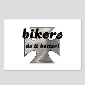 BIKERS DO IT BETTER Postcards (Package of 8)